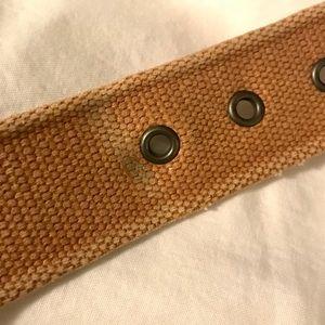 """GAP Accessories - Gap Men's Tan Canvas & Leather Belt Large 40-44"""""""